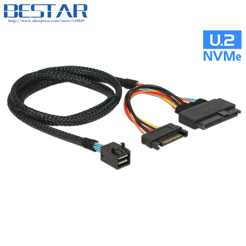 U.2 U2 SFF-8639 NVME PCIe SSD Cable for Mainboard Intel SSD 750 p3600 p3700 M.2 SFF-8643 Mini SAS HD кабель внутренний hdmsas sff 8643 to hdmsas sff 8643 internal backplane cable lsi 0 8м avago lsi00404