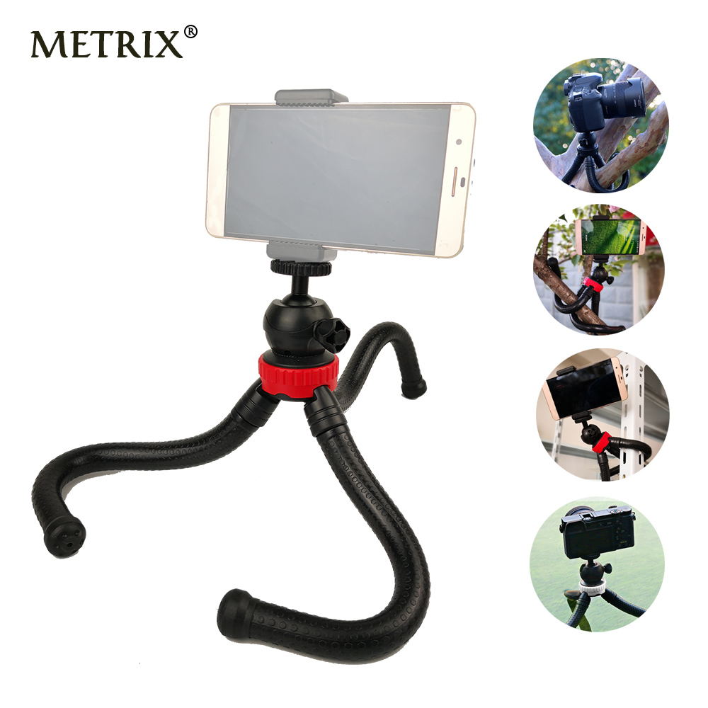 2018 Mini Flexible Octopus Tripod Gorillapod Phone Holder Adapter for iPhone X Mobile Phone Smartphone DSLR Camera Gopro Hero fosoto medium octopus flexible digital camera stand gorillapod monopod mini tripod with holder for gopro hero 2 4 3 3 and phone