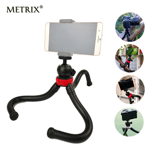 2018 Mini Flexible Octopus Tripod Gorillapod Phone Holder Adapter for iPhone X  Mobile Phone Smartphone DSLR Camera Gopro Hero