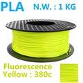 Fluorescencia amarilla Pla 1.75 3D impresora filamento de alta calidad 3D plástico filamento Pla 1 kg 1.75mm filamento impresora 3D