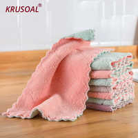 8pcs Super Absorbent Double-layer kitchen dishcloth Cleaning Towel Microfiber High-efficiency tableware Household kichen tools