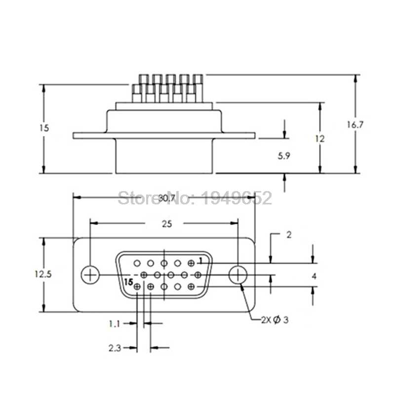 Connector lassen soort draad DB15 15 gat pin 3 rijen VGA Adapter man vrouw plug socket seriële poort terminal Gelast connector