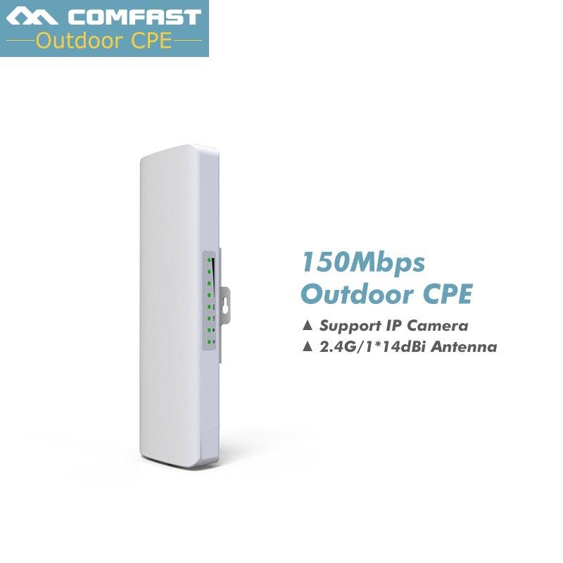 Prix pour COMFAST Sans Fil En Plein Air Pont CPE WIFI Routeur 2 KM 150 Mbps Sans Fil Point D'accès Routeur Avec 14dBi Antenne WIFI Nanostation