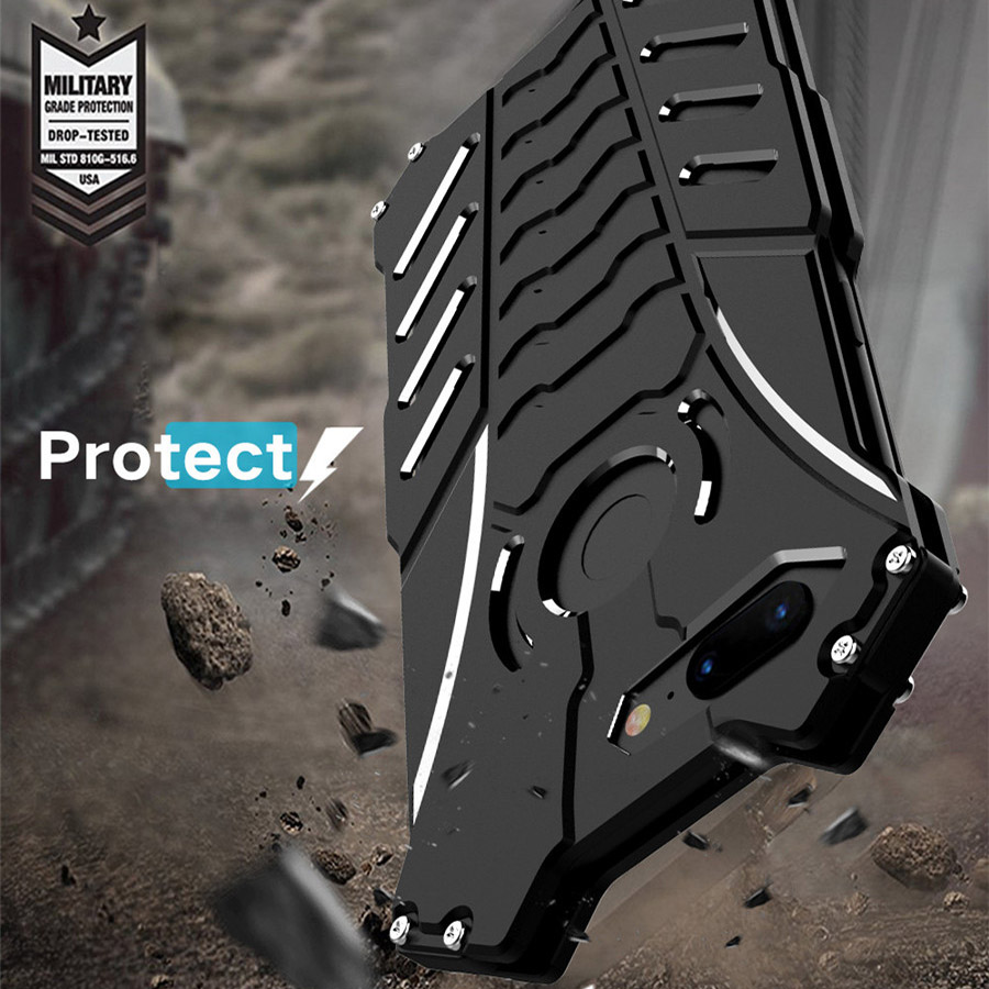 Oneplus 5t R-JUST BATMAN Series Luxury Doom Heavy Duty Armor Metal Aluminum Case For One Plus Oneplus 5t Oneplus 5 t Bags