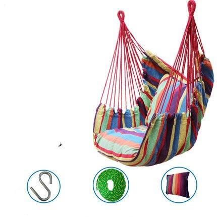 Chaise balancelle hamac toile épaisse enfant adulte balancelle camping chaise suspendue