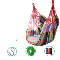 Swinging chair hammock thick canvas Child adult Swing camping hanging chair