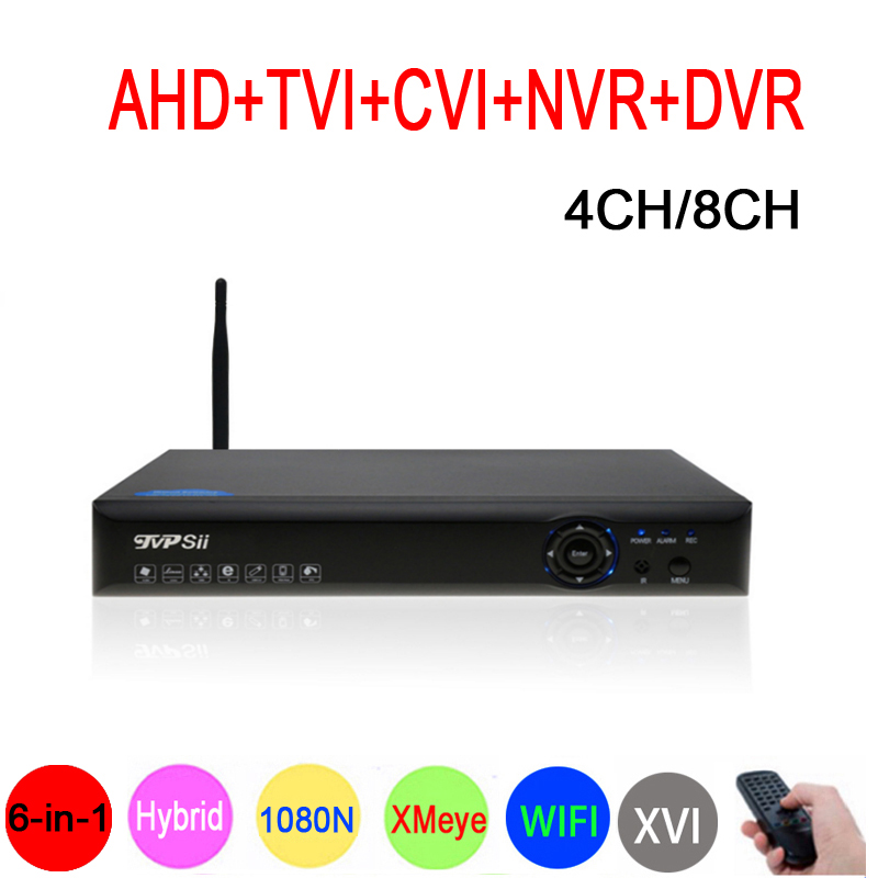 1080P CCTV Camera XMeye Blue Ray Panel Hi3520D 1080N 4CH 8CH 6 in 1 Wifi Hybrid
