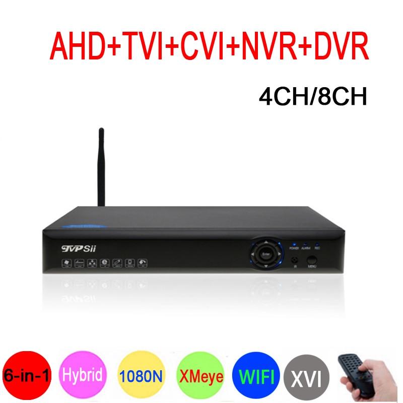 1080 P CCTV Камера xmeye Blue-Ray Панель Hi3520D 1080N 4CH/8CH 6 в 1 Wi-Fi Гибридный коаксиальный XVI NVR CVI TVi AHD DVR Бесплатная доставка