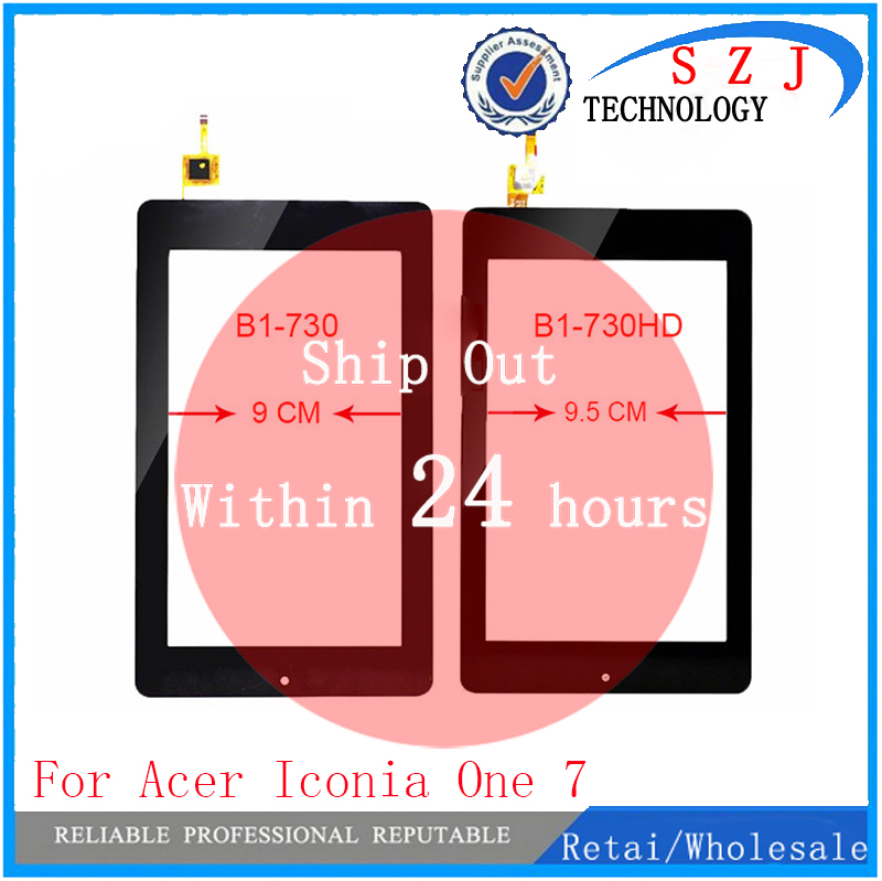 New 7'' inch For Acer Iconia One 7 B1-730 B1-730HD TESTED Touch screen Panel Digitizer Replacment Free shipping for acer iconia one 7 b1 750 b1 750 black white touch screen panel digitizer sensor lcd display panel monitor moudle assembly