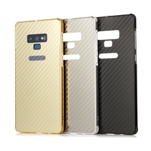 For Samsung Galaxy Note 9 Case Aluminum Metal Frame+Carbon Fiber Hard Back Cover Case for Samsung Galaxy Note 9 Phone Shell