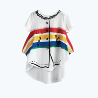 Girls T Shirt Wolf Rita Summer Cloth Cotton Girl T Shirt Short Sleeve Tee Top For