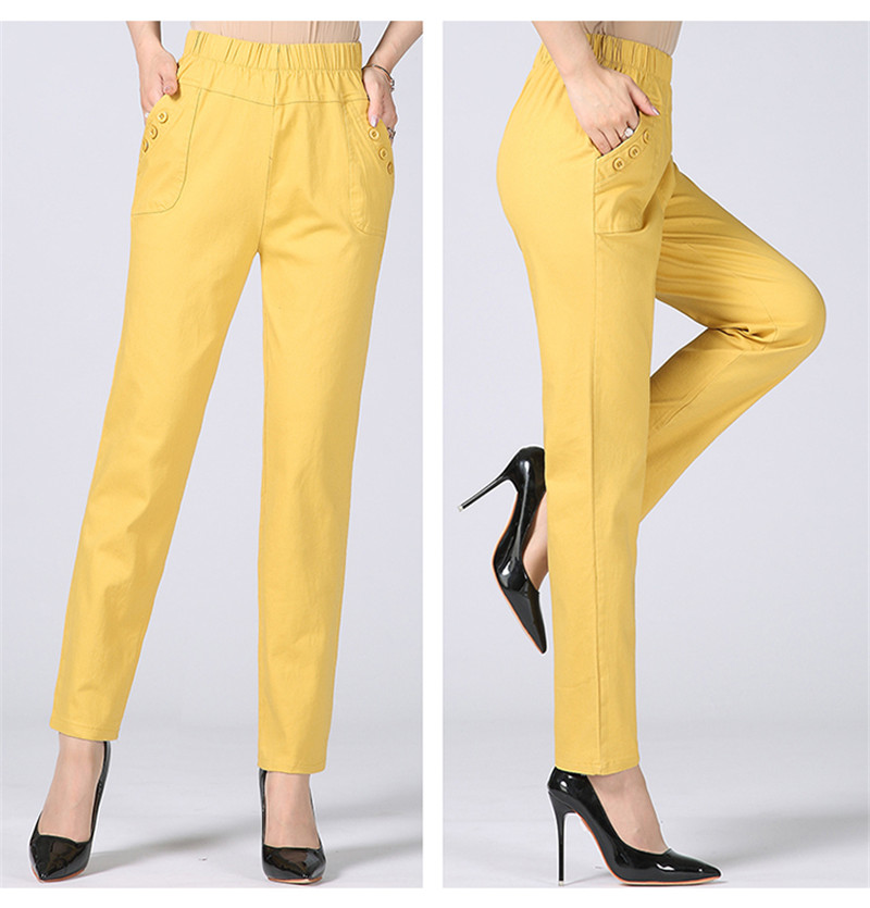 HTB1Vdo3kh9YBuNjy0Ffq6xIsVXa5 - Plus Size 5XL High Waist Stretch Long Pants Women Cotton Straight Trousers Women Pantalon Femme Work Office Ladies Pants C4315