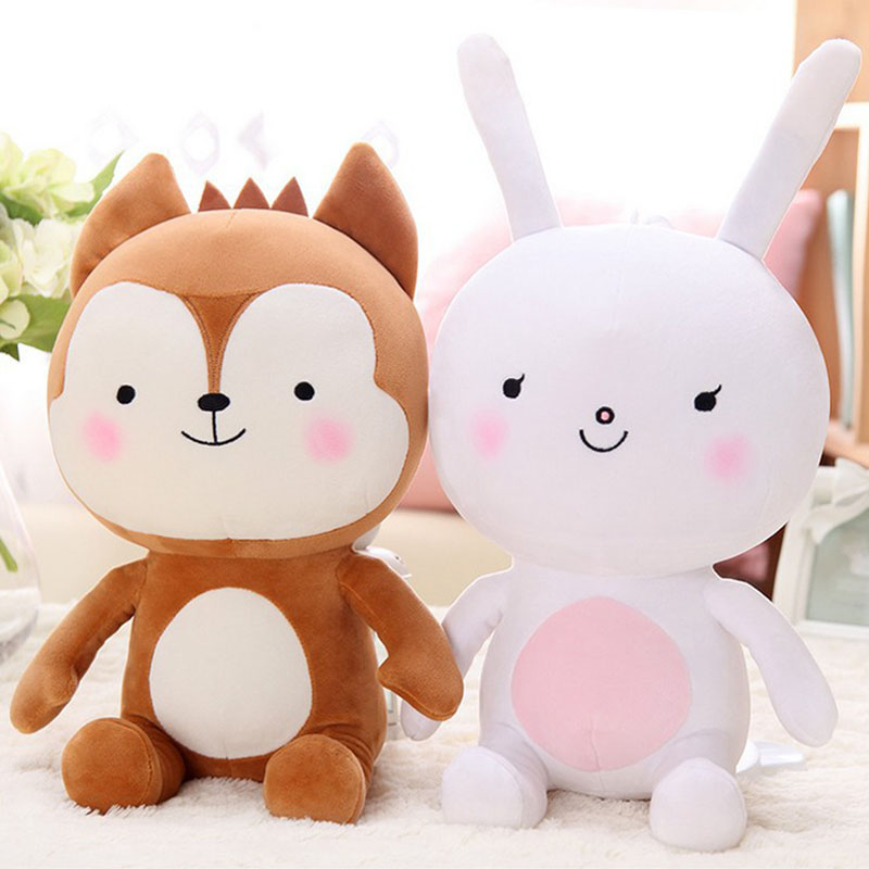 2017 Rabbit Fox Married Plush Doll Cuddly Bunny Bride and Groom Pillow Cute Rabbits Fox Animal Movie Beautiful Toys Gift C29 free shipping 1pcs 50cm special cute soft anime pig rabbit cuddly sleep plush animal doll hold pillow stuffed toy birthday gift