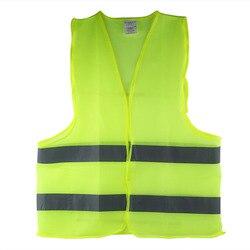 Новый светоотражающий жилет большого размера 60 г рабочая одежда обеспечивает высокую видимость День Ночь для бега Велоспорт жилет для пред...