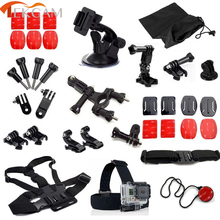 Tekcam for Gopro Session Accessories for Gopro session Hero 5 session hero 4 session with bicycle mount helmet strap car mount