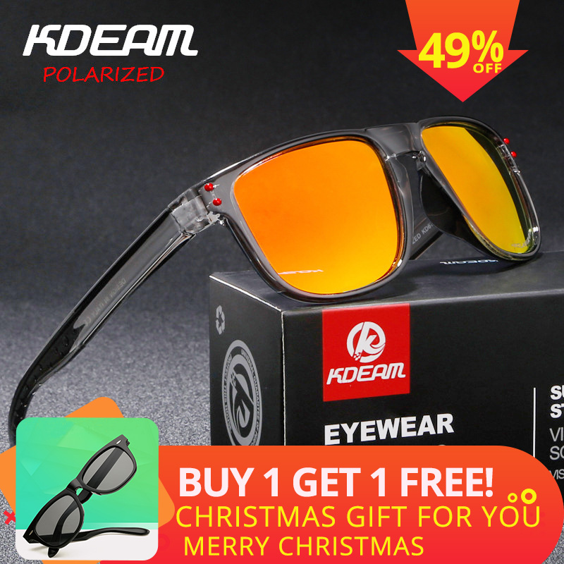 bf62663d8f KDEAM Sport Style Polarized Sunglasses Men Ultralight Frame Vintage Sun  Glasses Polaroid Lens Square Goggles Male