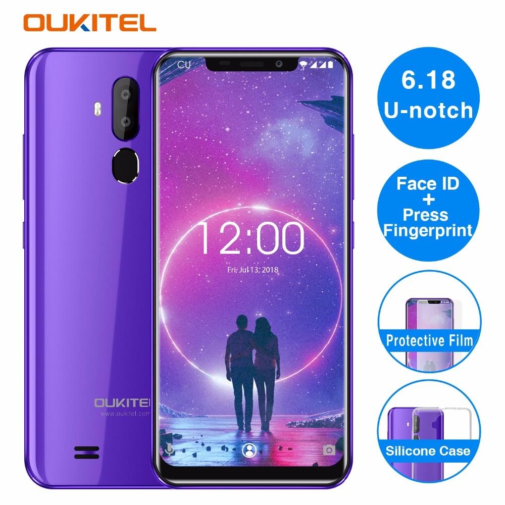 OUKITEL C12 6 18 Android 8 1 Mobile Phone MT6580 Quad Core 2G RAM 16G ROM