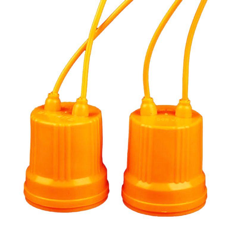 Earnest 2 Pcs E27 Ceramic Waterproof Holder Base Screw Light Bulb Lamp Socket Flame Retardant Durable Material Safe Non Electric Leakage Lights & Lighting