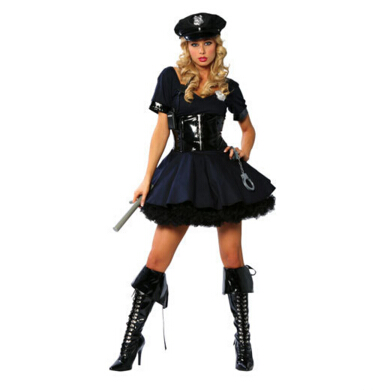 free shipping female cop costume lady police costume lady cop fancy dress plus size halloween role cosplay  fancy dress  S-3XL