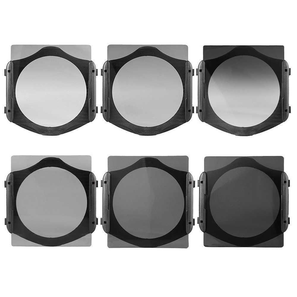 Zomei กล้อง Filtro Gradient ND2 4 8 16 ND กรองชุด Cokin P Series Hood อะแดปเตอร์แหวนสำหรับ DSLR