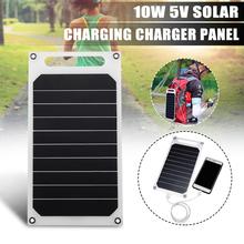 CLAITE 5V 10W DIY Panel słoneczny Slim podświetlana ładowarka USB ładowanie przenośny Power Bank Pad uniwersalny do oświetlenia telefonu ładowarka samochodowa tanie tanio 26X14 5X0 3CM LEORY 5V 10W Monocrystalline Silicon
