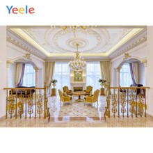 Yeele Royal Retro Gothic Living Room Chandelier Chair Table Curtain Floor Interior Photo Backdrop Photo Backgrounds Photo Studio(China)