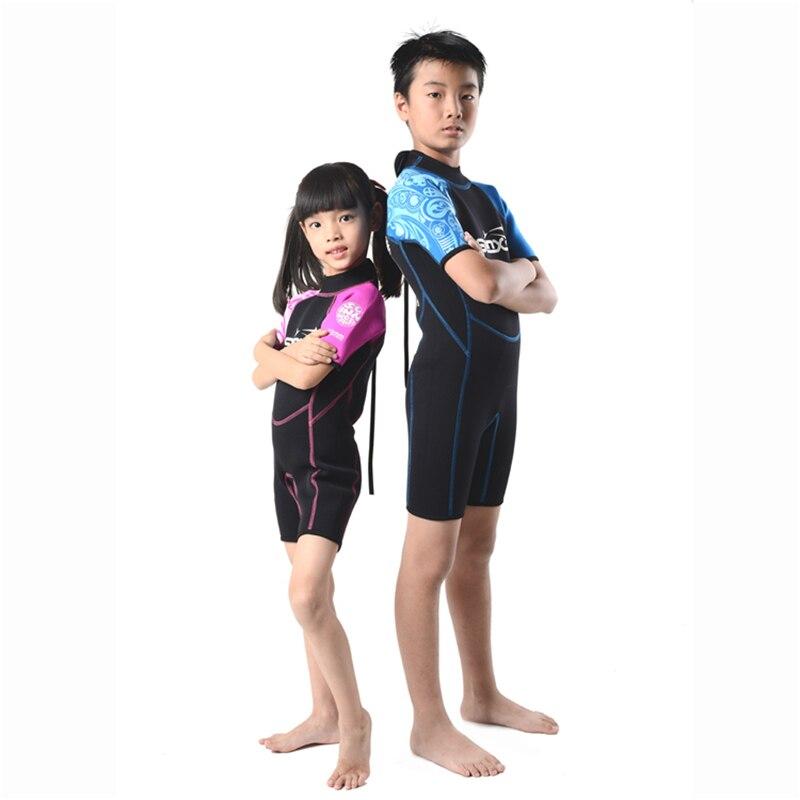 SLINX 2mm Néoprène Enfants Plongée sous-marine Costume De Natation Maillots De Bain Kite Surf Sports Nautiques Plongée En Apnée Nautique Kid'S Combinaison