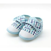 Soft Sole Booties Cotton Baby Shoes Newborn Girls Boys Plaid First Walkers Toddler Prewalkers(China)