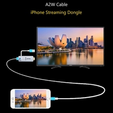 A2W Cable Phone Streaming Dongle Universal Wired Mirroring Streaming Converter Digital HD Media Streamer Tv stick