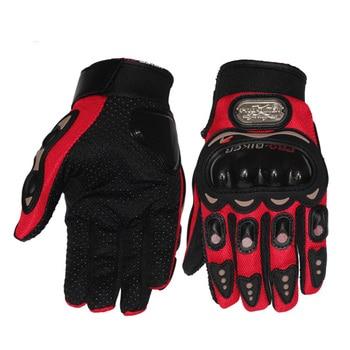 Guantes de dedos completos para motociclismo para hombre y mujer, guantes transpirables antideslizantes para moto, para mantener el calor y la seguridad