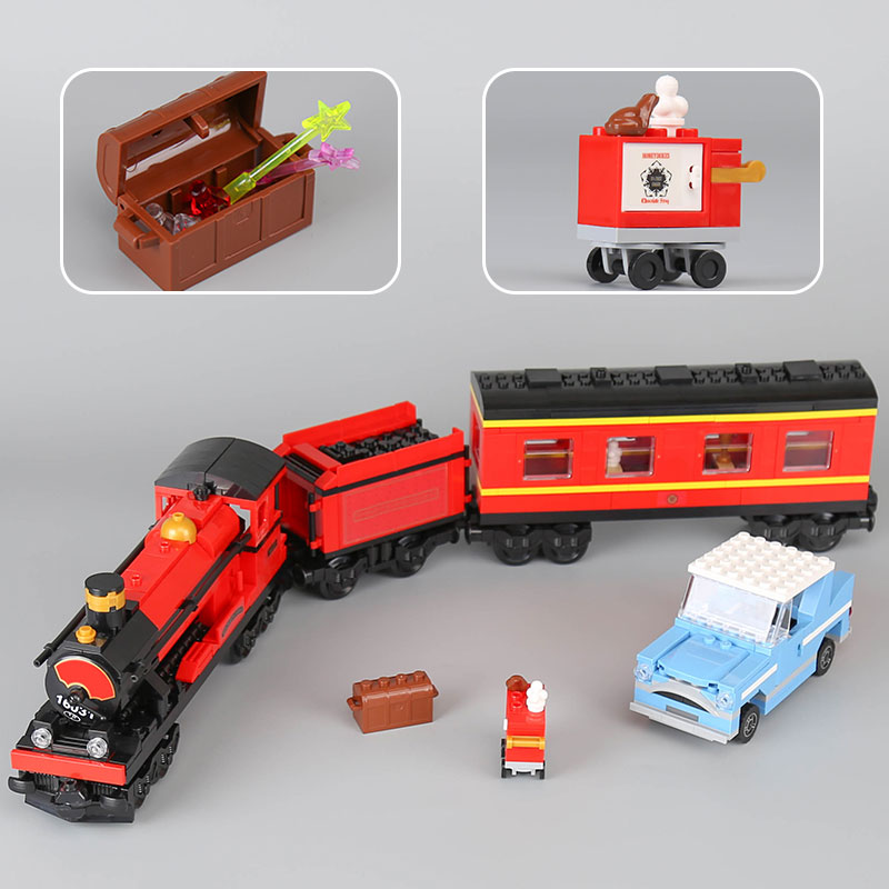 LEPIN 16031 724pcs Harry Potter Hogwarts Express Compatible Legoed Building Blocks Bricks Education Toys for children Gift 4841 lepin 22001 pirate ship imperial warships model building block briks toys gift 1717pcs compatible legoed 10210
