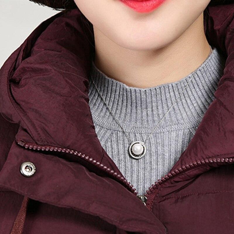 Femminile Formato Modo Cappotto Cotone Giacca Parka X1615 Nuovo Delle Wadded Caldo Black Giù Red purple Con Lunga Cappuccio Donne Di Più Inverno xnqTOIP
