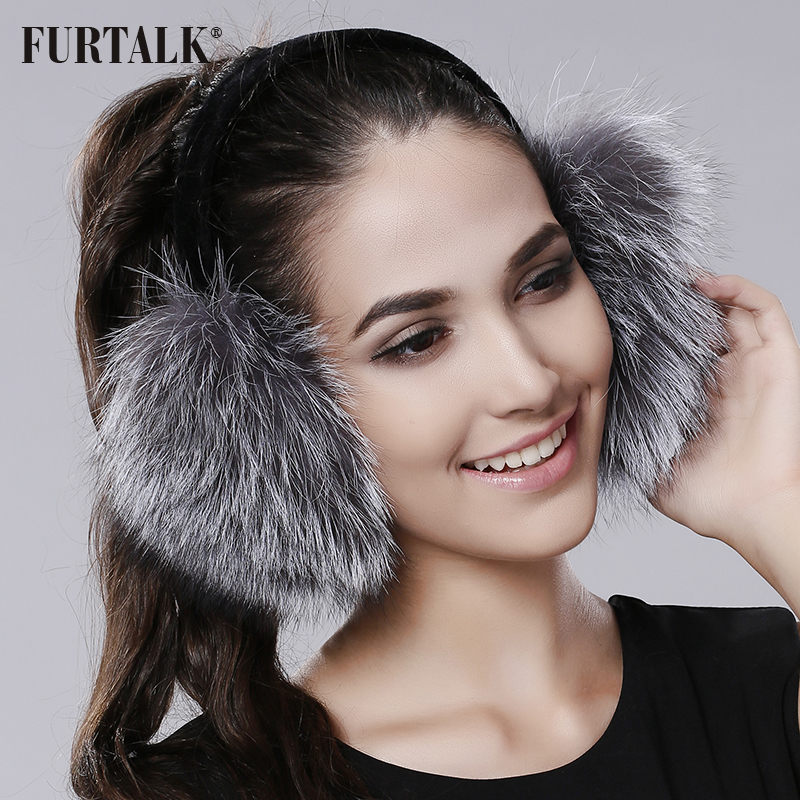 a65e4b8373999 FURTALK Winter Women Warm Real fox Earmuffs Girl s Earlap Ultralarge Imitation  Ladie s Plush Ear Muff-in Earmuffs from Apparel Accessories on  Aliexpress.com ...