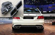 Хром 304 Из Нержавеющей Стали глушитель совет для Mercedes-Benz AMG S6 W212 E-Class изменения в E63 AMG Стиль автомобиля укладки