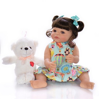 22 Inch Fashion Reborn Alive Girl Doll Bebes reborn silicone completo Realistic Princess Baby Doll For Kids Xmas Gifts
