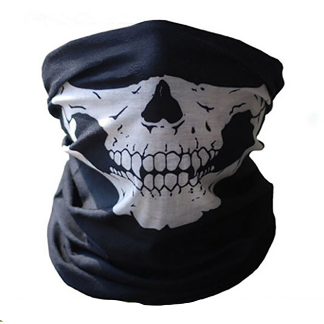Motorcycle Multifunction Cosplay Ghost Skull mask Helmet Neck Face windproof Mask Wild survival mask Party Funny masks 2