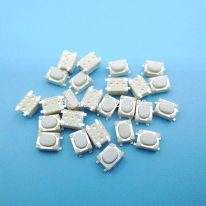 Image 1 - 100pcs/lot Micro Button Tact Switch SMD 4Pin 3X4X2.5MM White Tactile Tact Push Button Micro Switch Momentary 3*4*2.5mm S