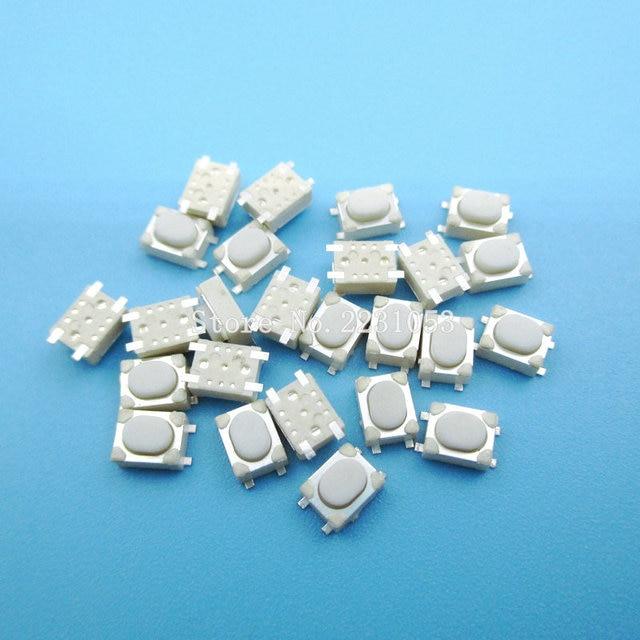 100pcs/lot Micro Button Tact Switch SMD 4Pin 3X4X2.5MM White Tactile Tact Push Button Micro Switch Momentary 3*4*2.5mm S