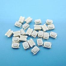 Micro bouton Tactile, 100 pièces/lot, SMD, 4 broches, 3x4x2.5mm, blanc, 3x4x mm, bouton poussoir