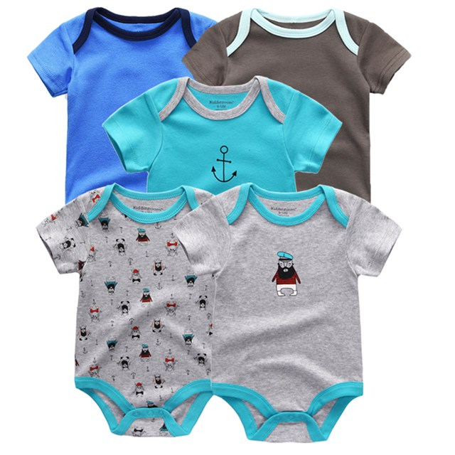 Kiddiezoom детские комбинезоны пижамы для маленьких девочек Дети Bebe Infantil одежда для новорожденных одежда из хлопка Одежда для маленьких мальчиков, Товары для детей - Цвет: baby bodys 5118