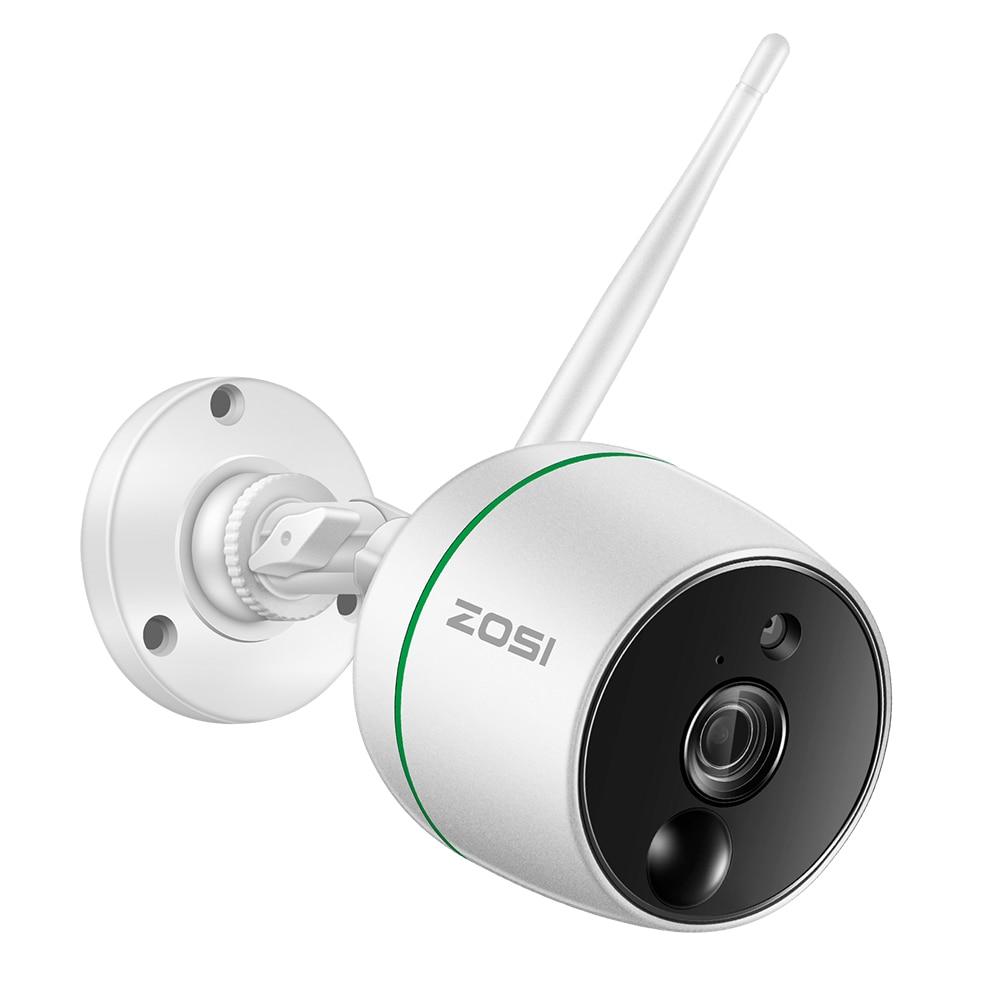 ZOSI Full HD 1080 P WiFi ip-камера, наружная Всепогодная Беспроводная ip-камера видеонаблюдения, датчики движения PIR, двухстороннее аудио
