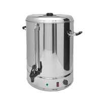 Commercial Heating Kettle Electric Boiling Bucket 15L Anti dry Burning Stainless Steel Water Heater Milk Tea Barrel WB 15A