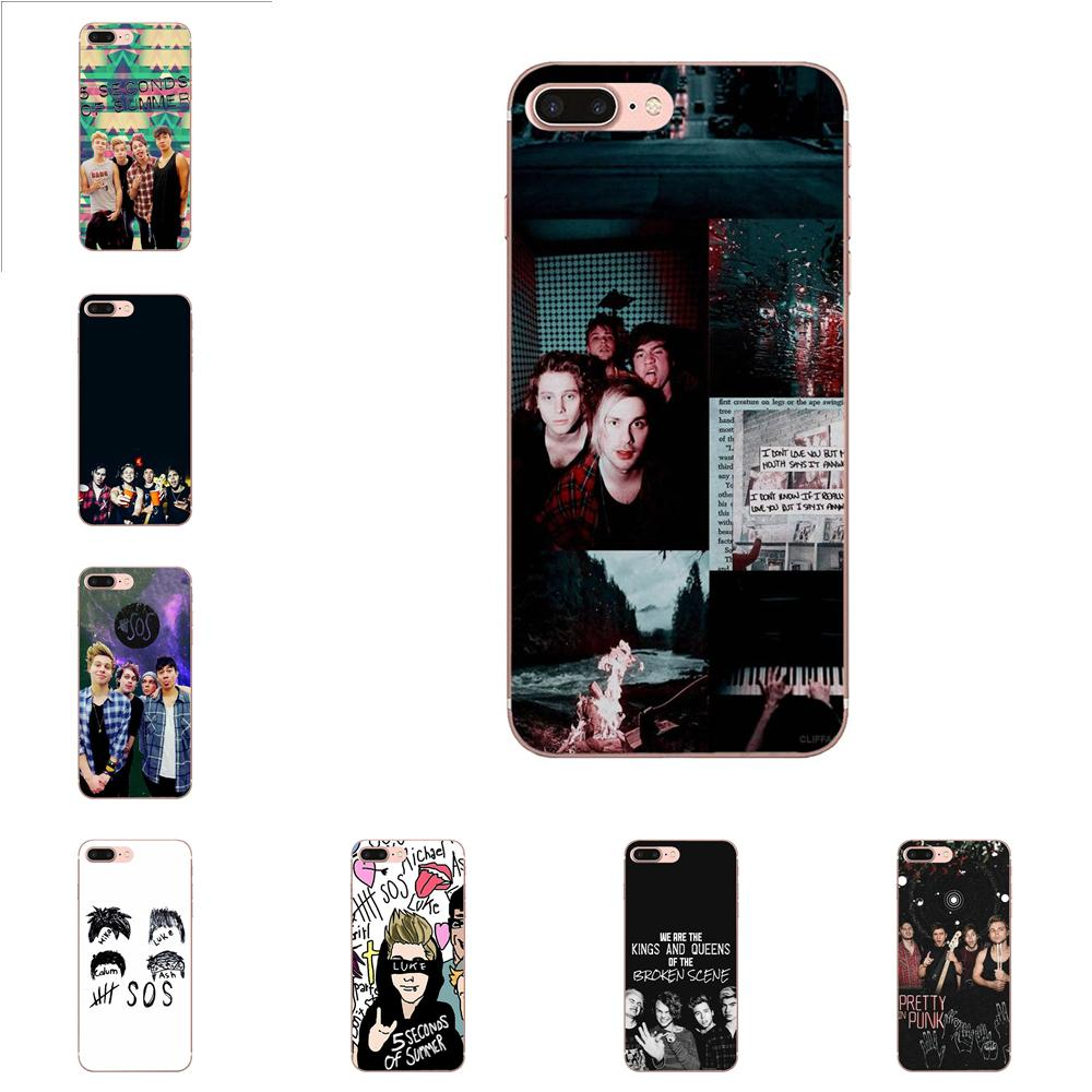 5 Seconds Of Summer Sos For Samsung Galaxy Note 5 8 9 S3 S4 S5 S6 S7 S8 S9 S10 mini Edge Plus Lite Luxury Cool Phone Case