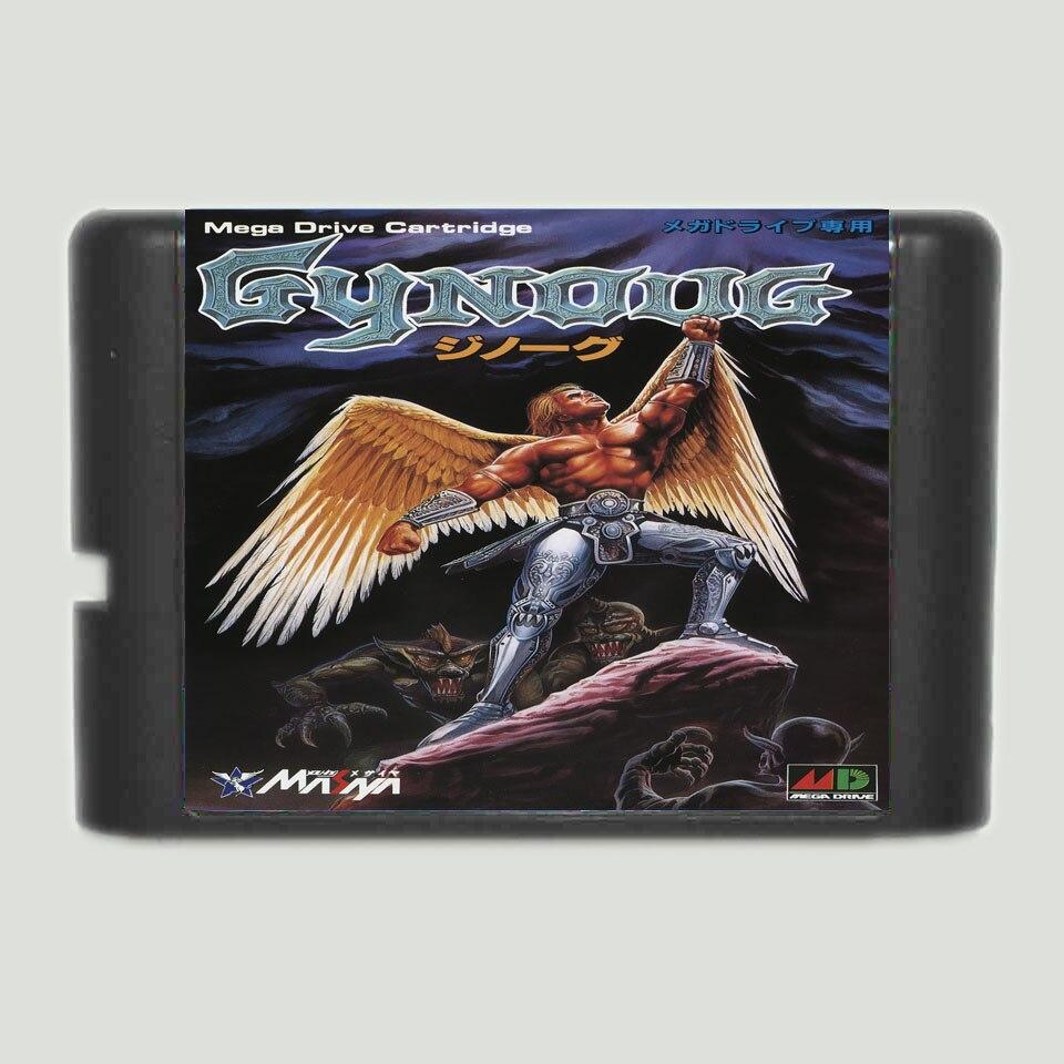 Gynoug 16 bit MD Game Card For 16 bit Sega MegaDrive Genesis game console