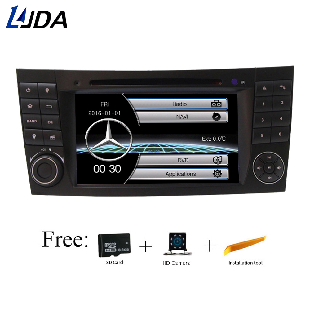 LJDA 2 din 7 Inch Car DVD Player For Mercedes Benz E Class W211 E300 CLK W209 CLS W219 G Class W463 GPS Navigation Radio Map rds