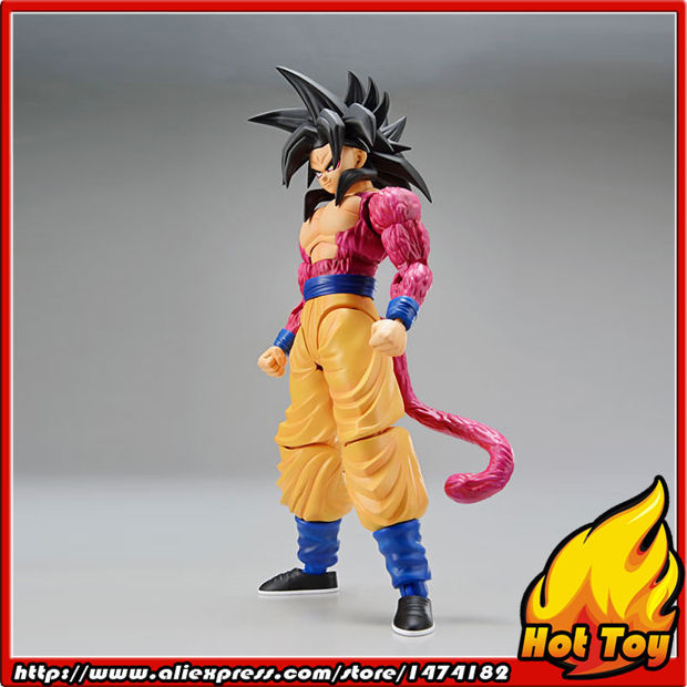 Original BANDAI Tamashii Nations Figure-rise Standard Action Figure - Super Saiyan 4 Son Goku Plastic Model Dragon Ball GT free shipping 6 volcaloid hatsune miku with guitar ver boxed 14cm pvc action figure collection model doll toy figma 200