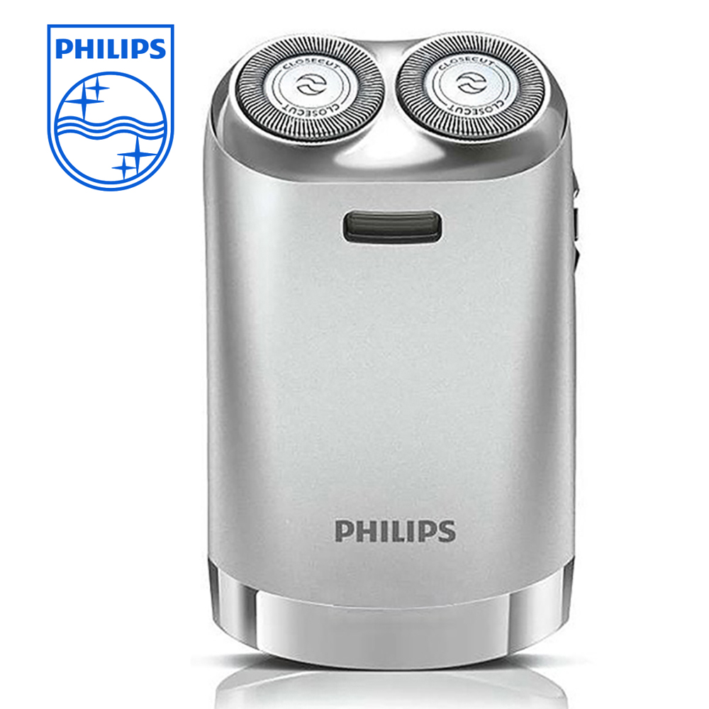 Philips HS198/199 Electric Shaver Floating Double Head Black/Sliver USB Rechargeable with Ni-MH Battery Gift Box 100% Genuine philips electric shaver pq190 rechargeable with ni mh battery 100 240v for men s electric razor independent two floating heads