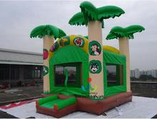 5.5X5M Tropical Jumping Castle, Forest Tree Inflatable Bouncer