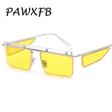 Pop Age 2018 New Brand Designer Square Summer Sunglasses Women Men Clear Yellow Blue Sun Glasses Female Oculos de sol Shades