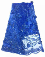 (5yards/lot) SJSDN09,high quality wedding lace African tulle lace fabric,french lace material with beads & stones